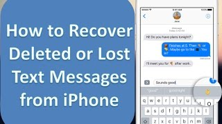 How to Recover Deleted Text Messages on iPhone 7/6/6s/6 Plus/6s Plus/5s/5c/5/SE