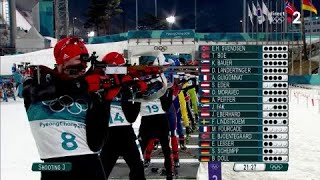 JO 2018 : Biathlon - Masst start hommes : Fourcade prend les commandes !