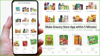 🔥How to Make Grocery Store App within 5 Minutes🔥Kirana Store 🔥 Create Grocery Website Android App