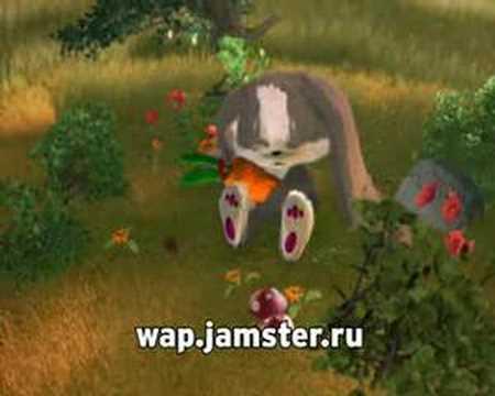 Зайка с морковкой мультфильм