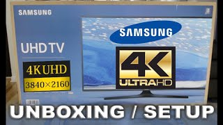 SAMSUNG 6100 series 4K TV Unboxing and Setup