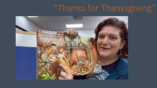 """Tuesday Tales at Home - """"Thanks for Thansgiving"""""""