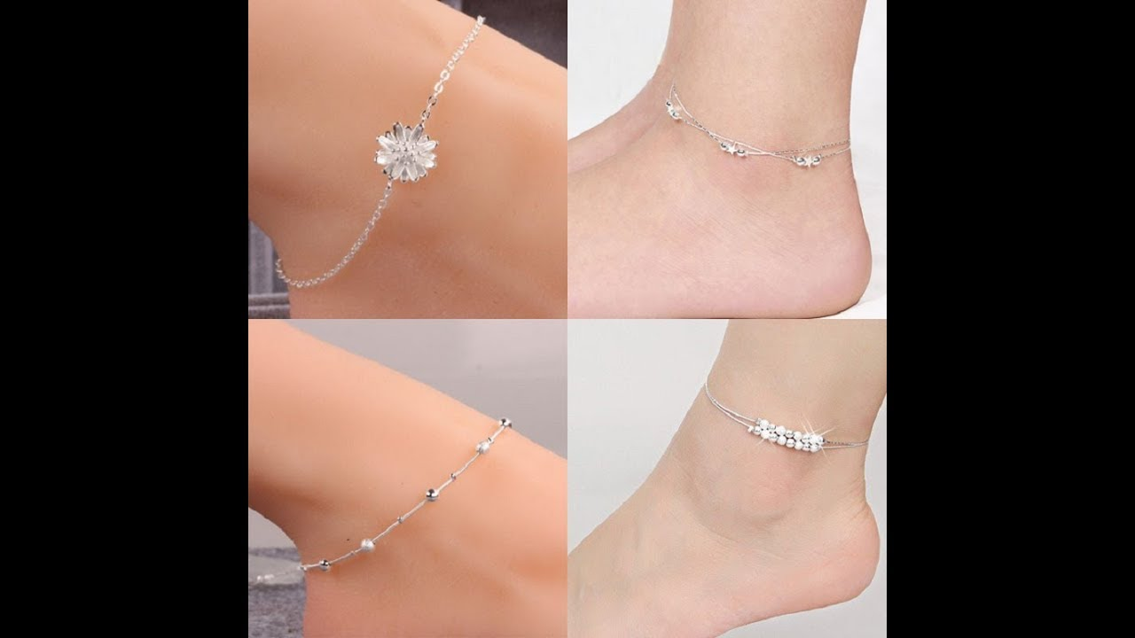 Top Beautiful Silver Anklets/Bracelet/Payal For Women // Foot ...