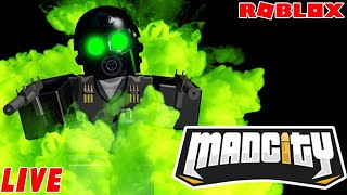 🔴Roblox MAD CITY NEW UPDATE! NEW WEAPONS🔫! ☣NEW TEAR GAS☣| Roblox Live Stream🔴