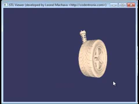 STL Model Viewer developed using VB NET and OpenGL