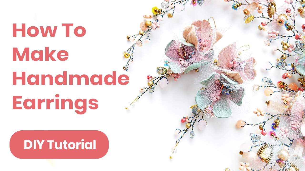 DIY Earrings Handmade Idea. Graduation or Wedding Outfit. Spring/Summer Look 2019 4