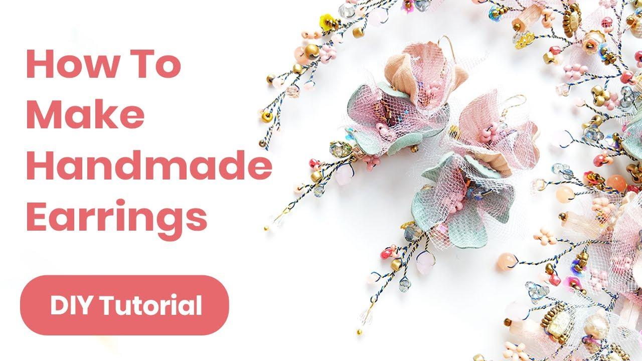 DIY Earrings Handmade Idea. Graduation or Wedding Outfit. Spring/Summer Look 2019