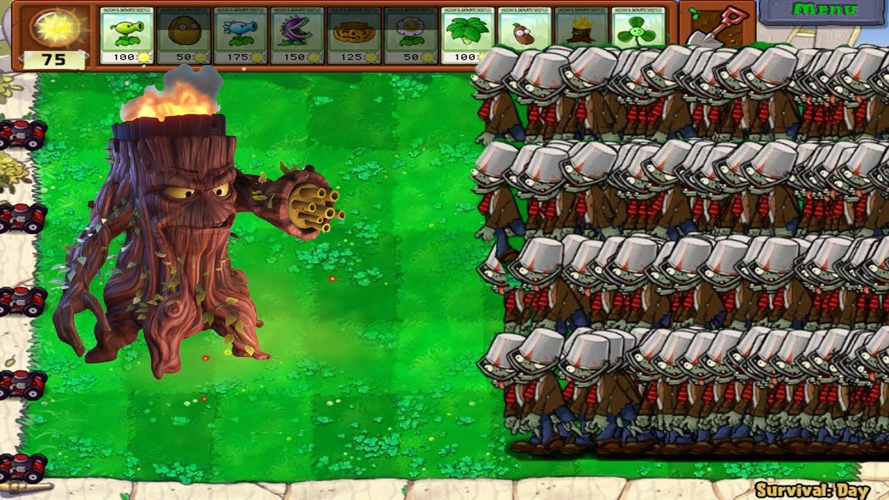 Gatling Pea Fire vs Conehead Zombie vs Gargantuar Pvz | Pvz2 Gameplay