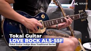 Tokai Love Rock ALS-55F Indigo Blue Traditional Series Specification: - BODY Flamed Maple AAAA(Veneer) + Maple Top + Mahogany Back - NECK Canadian ...