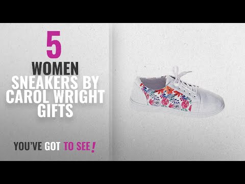 Featured Carol Wright Gifts Women Sneakers [2018]: Carol Wright Gifts Floral Canvas Sneaker, Color