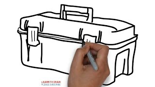 How To Draw a Tool Box Step By Step For Kids