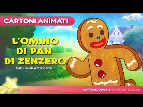 L' omino di pan di zenzero storie per bambini | Cartoni animati