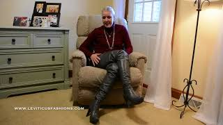SHALE GREY LEATHER THIGH BOOTS AND UPCOMING NEW COLORS