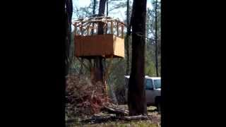 How To Build A Treehouse / Deer Stand / Nature Observation Platform