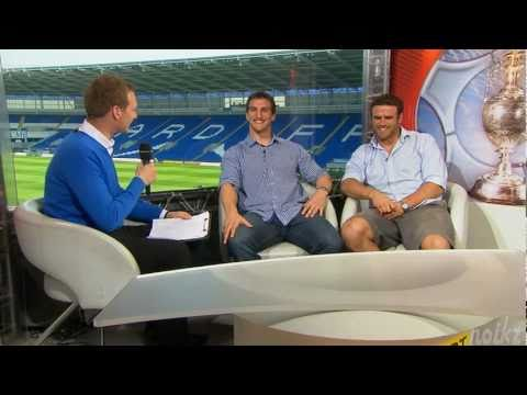 Sam Warburton and Jamie Roberts talking about football (Pre Cardiff v QPR)