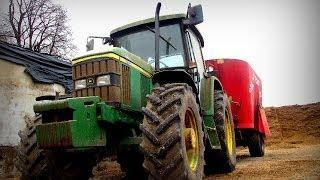 Codziennie obowiazki w gospodarstwie mlecznym - sporządzanie paszy , karmienie krów -JD 6210 ,6110