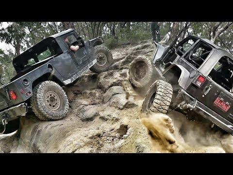 American 4x4 Trucks In Oz - Hummer Vs Jeep - Nitto Challenge