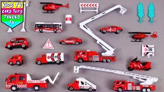 Fire Department Vehicles For Kids Children Babies Toddlers | Fire Engine Ladder Truck | Kids TV