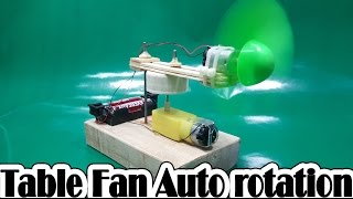 make a Mini Table Fan Auto rotation at home