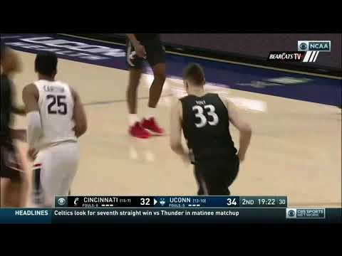Men's Basketball Highlights (OT): Cincinnati 71, UConn 72 (Courtesy CBS Sports)