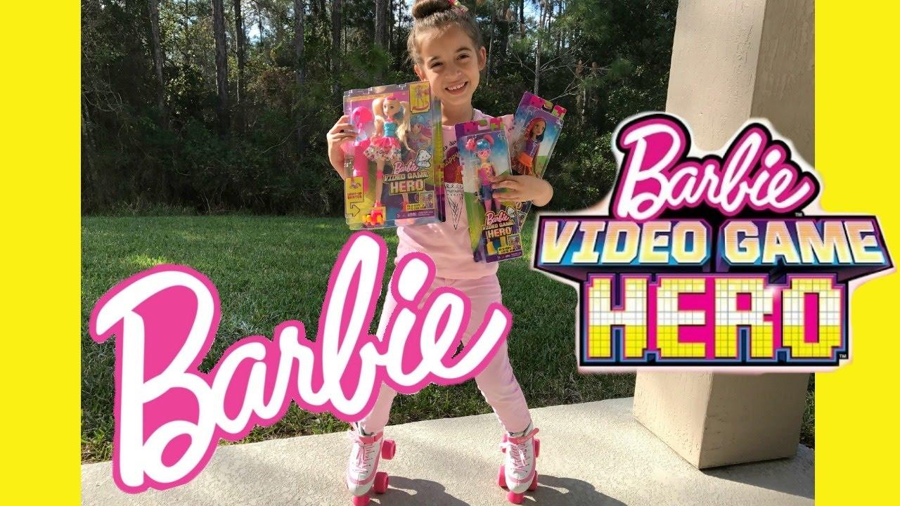 752bc2fe3d60 NEW Barbie Video Game Hero Movie Dolls - YouTube