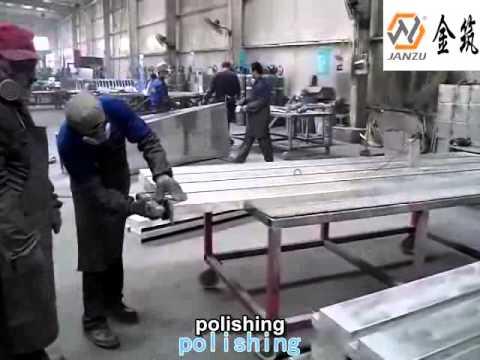 aluminum curtain wall processing