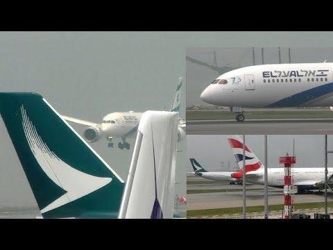 Hong Kong International Airport with ATC BA A380 Thai 777