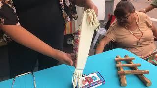SWAIA 96th Annual Santa Fe Indian Market - Interview   Karis Jackson Beadwork Artist