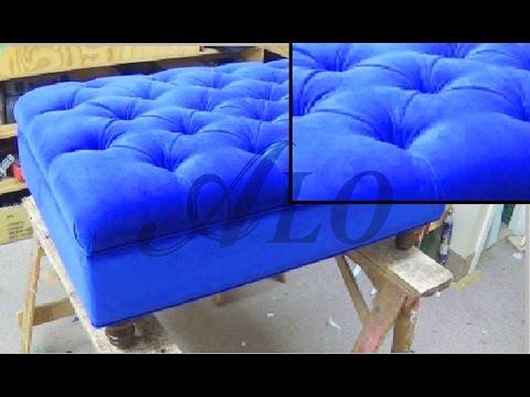 DIY: TUFTED OTTOMAN. RECTANGULAR SHAPE. DANIELLE B. - ALO Upholstery