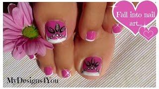 Toenail Art Design | Pink and Silver Beads Pedicure ♥ Diseño de Uñas de Pies