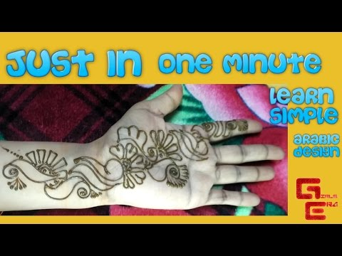 Instant Simple Arabic Mehndi Design On Hand In Just One Minute - Girls Era