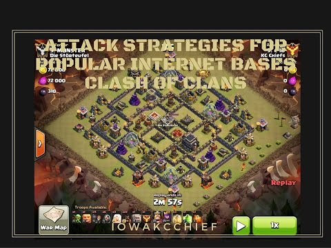 IBB: (TH9 Dragonflower) M4X (max) Attack - How to beat Popular Clash of Clans Bases