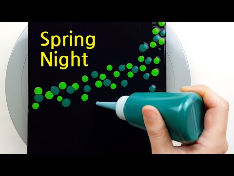 Download (423) Spring night | Plastic wrap swipe & smash | Fluid Acrylic for beginners | Designer Gemma77