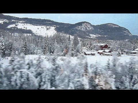 Bergen line Norway: the scenic winter landscapes of Ål
