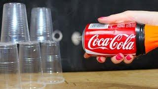 How To Make Mini Vortex Cannon Using Coca Cola Can - DIY Air Bazooka or Airzooka. Toy