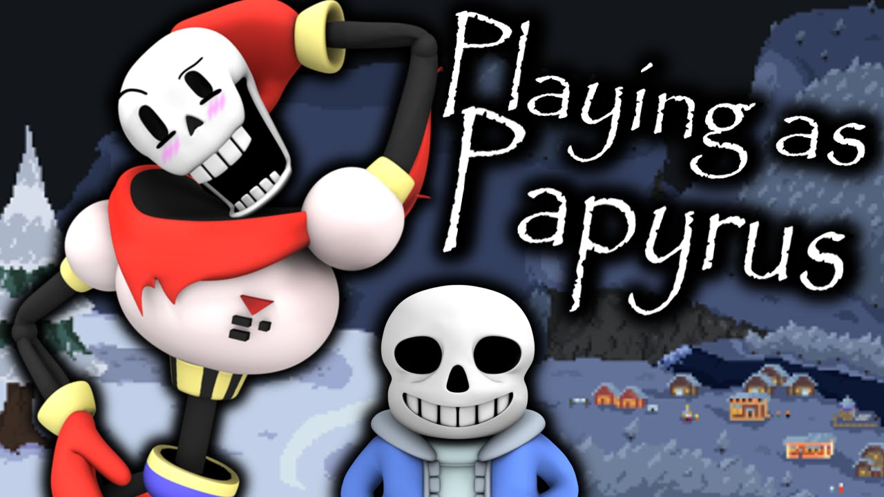 PLAYING AS THE GREAT PAPYRUS! PAPYRUS'S BIG CHRISTMAS ADVENTURE ...