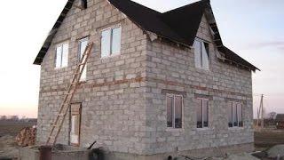 Строительство дома из пеноблока своими руками - пошаговая инструкция(Постройка дома своими руками - от фундамента до крыши., 2015-08-13T15:54:51.000Z)