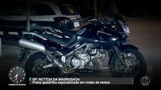Polícia prende acusado de liderar quadrilha de ladrões de moto   Primeiro Impacto (28/11/17)