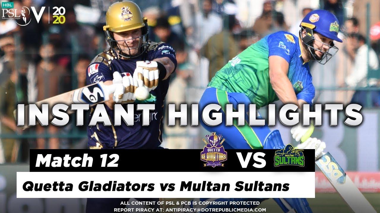 Quetta Gladiators vs Multan Sultans | Full Match Instant Highlights | Match 12 | 29 Feb | HBL PSL 5