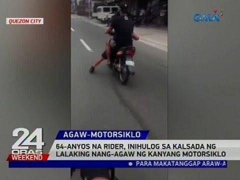 64-anyos na rider, inihulog sa kalsada ng lalaking nang-agaw ng kanyang motorsiklo