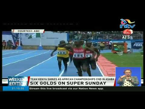 Team Kenya light up Asaba to finish overall African athletics champions