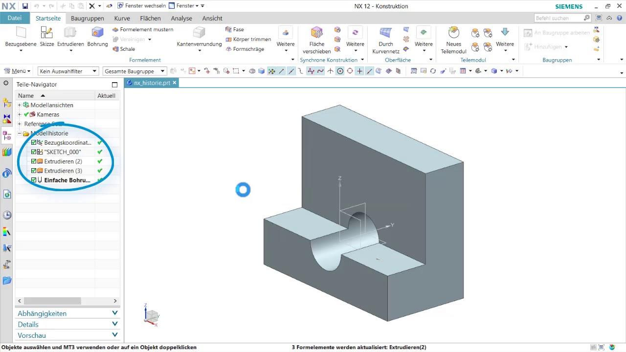 nx tutorial verhalten beim l schen bergeordneter On mobel konstruktionsprogramm