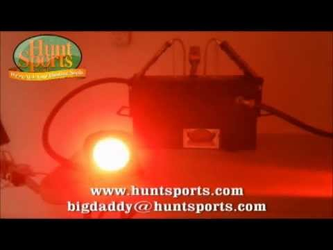 HogLight Deer Feeder LED Hog Light FeederLight Solar Wild Boar Hunting Set Up Package