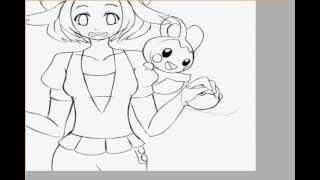Bianca - pokemon black/white( drawing ).wmv
