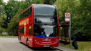 London Bus Route 215 - Walthamstow Central to Lee Valley Campsite - Subtitles