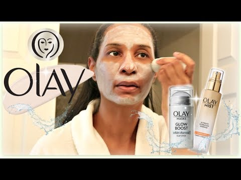 Olay SkinCare Review! | Glow Boost Clay Sticks + Ultimate Hydration Spray Mist | ThymeWithApril