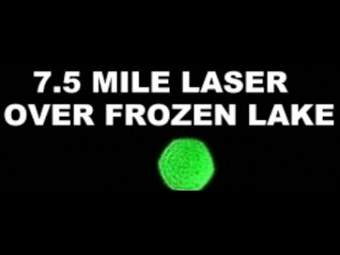 7.5 Mile Flat Earth Laser Test On Frozen Lake