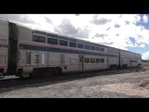 Amtrak Pacific Parlour Cars Funeral Procession 4K