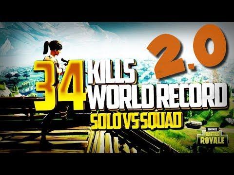 ► WORLD RECORD x2 34 KILLS WIN - SOLO VS SQUAD - BATTLE ROYAL - FORTNITE FR