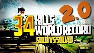 world record x2 34 kills win solo vs squad battle royal fortnite fr